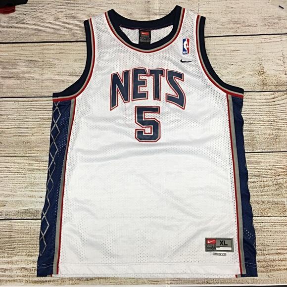 newest f74c7 17c50 Boys Nike Team NJ Nets NBA Jason Kidd Jersey XL